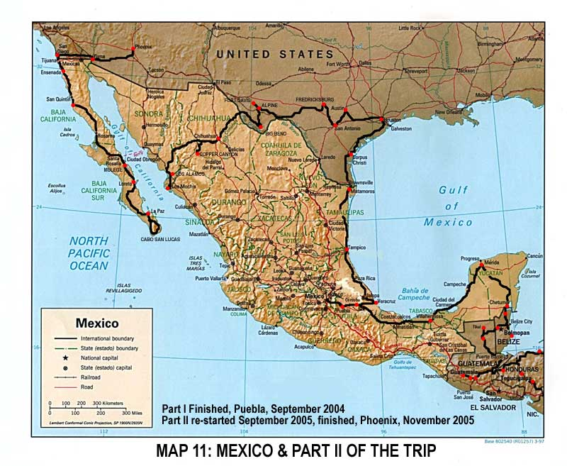 map northern mexico